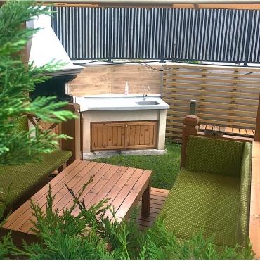 Уникальная зона барбекю в частном дворе Evergreen